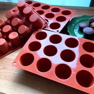 ミニケーキ型  シリコン製 USED
