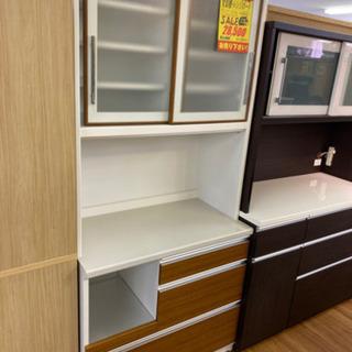 R235 高級ユーアイ製 食器棚・レンジボード 89cm 美品