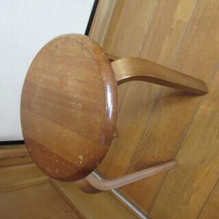 木製チェア 木製イス ウッドチェア 丸椅子 スツール コンパクトサイズ