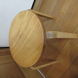 木製チェア 木製イス ウッドチェア 丸椅子 スツール コンパクト...