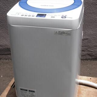 ㉛【6ヶ月保証付・税込み】シャープ 7kg 全自動洗濯機 …
