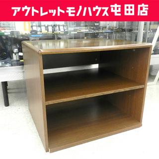 テレビ台 幅67cm 高さ55cm 木製 ブラウン サイドテーブ...