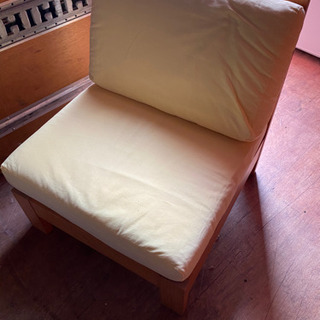 1人掛け 木製ソファー