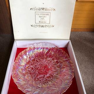 新品、佐々木ガラス花の集いコンポート1枚