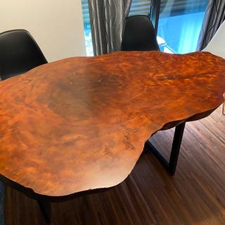 【大幅値下げ】天然 一枚板ダイニングテーブル