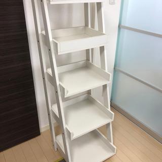 本棚 ラック 五段 ホワイト 木製 おしゃれ