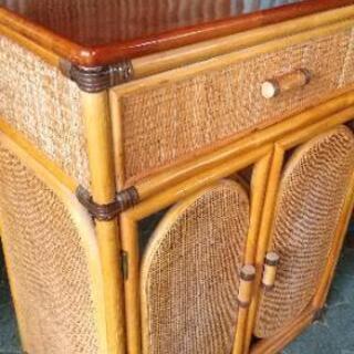 籐家具 棚 収納