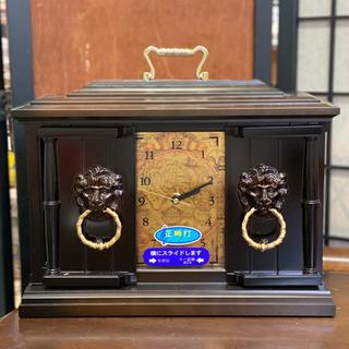 アクセサリー収納付きのレトロな置き時計