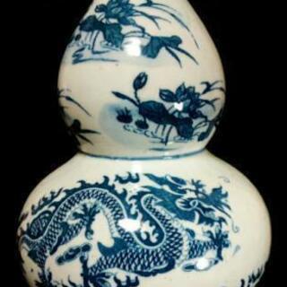 中国骨董品 陶磁器 龍紋葫芦瓶 大清乾隆年製 幸福感溢れる心豊か...