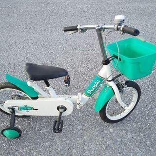 子供用自転車14インチブルー