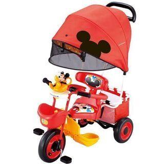ミッキー三輪車 付属部品セット(カゴ、ガイドバー、ステップ、押し...