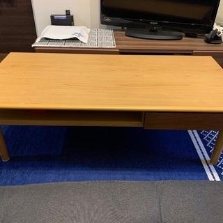 【状態良好】引き出し付きセンターテーブル 幅105cm×奥行き4...