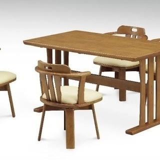 新品 食卓4人用セット(イスは回転イス)