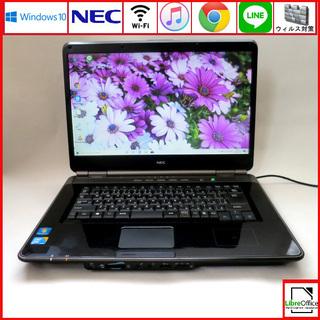 NEC メモリ4GB HDD160GB ノートパソコン/wifi...