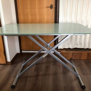 昇降テーブル ガラス天板 ニトリ