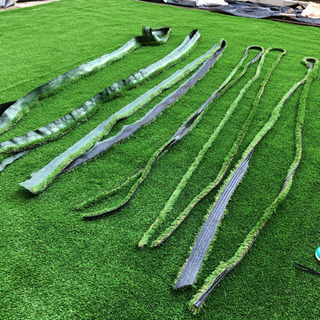 人工芝 紐状6本セット 紐 リアル人工芝 エクスターフ 540cm