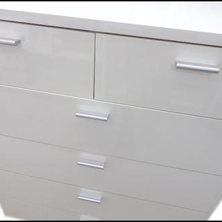 新札幌発 アイリスオーヤマ 塗装家具シリーズ チェスト 収納ラック 5段 ホワイト - 家具
