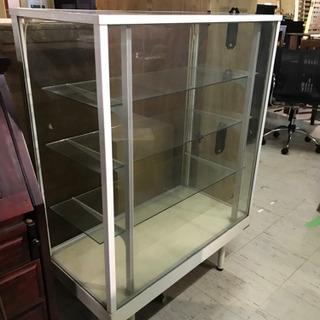 JF00632 ガラスショーケース ディスプレイ棚【ジャンク品】