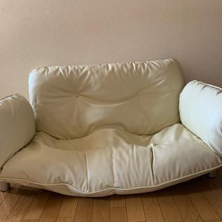 足つき2人掛けソファー