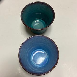 有田焼「聖山窯」小鉢&湯呑み「龍鳥」