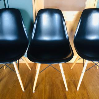 イームズ椅子3脚セット お洒落ダイニングチェア