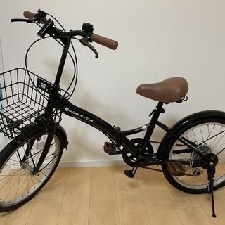 折り畳み自転車(黒)