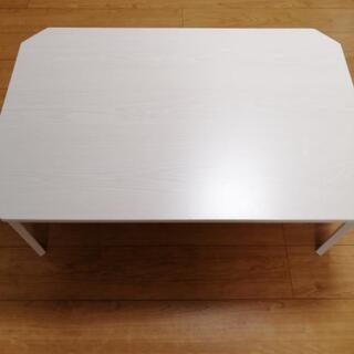 used美品★折り畳める白色ローテーブル【NITORI】