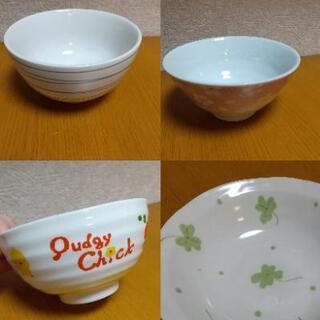 ご飯茶碗 小鉢 食器クローバー桜 ひよこ ボーダー 子供茶碗