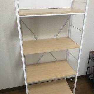 【本棚・キッチン棚として】ホワイトシェルフ