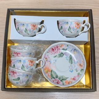 【美品】ティーカップ&ソーサー 5セット 来客用 花柄 おしゃれ