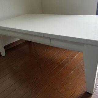 鏡面仕上げ テーブル ホワイト