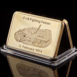【非売品・記念品】アメリカ合衆国空軍 F-16戦闘機の金地金