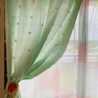 値下げしました【大きな窓用】カーテン、レースカーテン 4点セット...