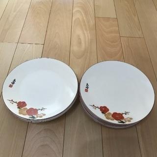 149、昭和レトロな小皿  梅の絵皿  9枚