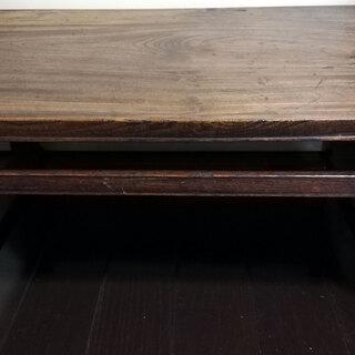 ◆古い 木製 座卓 ちゃぶ台◇天然木 古道具 和家具 座敷机 セ...