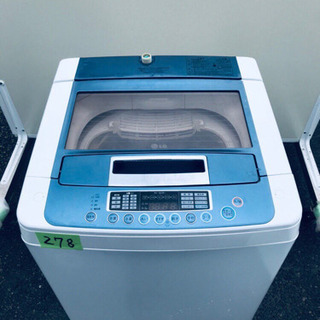‼️大容量‼️ 278番LG✨全自動電気洗濯機✨WF-7…