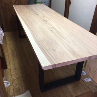 値下げ☆ 激安 225cm×74cm 一枚板ダイニングテーブル