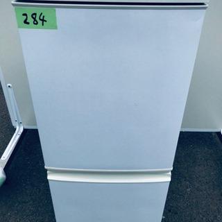 284番 シャープ✨ノンフロン冷凍冷蔵庫✨SJ-D14A-W‼️