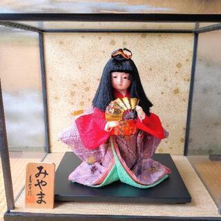 ケース付き 市松人形 みやま 寿宝作 日本人形