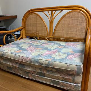 籐家具 ソファベッド