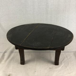 昭和レトロ 木製 古いちゃぶ台 円卓 コンパクト 折り畳み