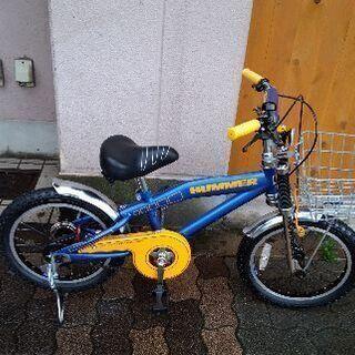 HUMMER 16吋キッズバイク(補助輪なし)ブルー
