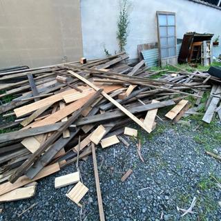 建築廃材あげます 薪などにも