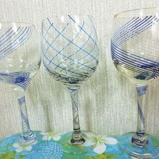 ワイングラス3脚セット