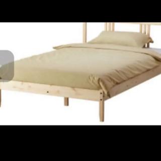 IKEAのすのこベッドフレーム&マットレス セミダブル