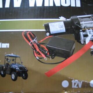 値下げしました 電動 ウインチ リモコン 12V 牽引可能 13...