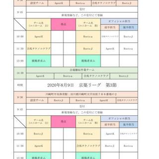 参加チーム募集!!2020.8.9 京築リーグ挑戦者枠