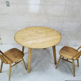 ■関家具 天然木 ダイニングテーブル チェア付き 2人がけ■