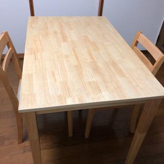 テーブル イス 2脚