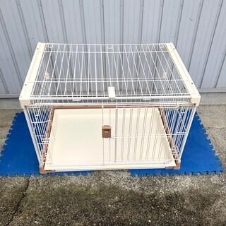 ペットゲージ ドッグケージ 犬用 ペット用品 天井窓付き トレー付